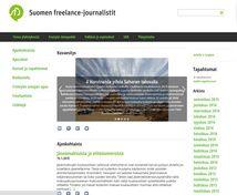 Suomen freelance-journalistit  Projektina: WordPress-kotisivujen toteuts perustuen valmiiseen logoon ja tekstimateriaaleihin.