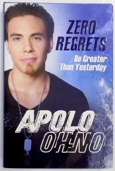 Featured is an Apolo Ohno signed copy of Zero Regrets. Gold medal-winning Olympic speed skater Apolo Ohno shares the inspiring personal story behind his enduring success as an elite athlete and reveal