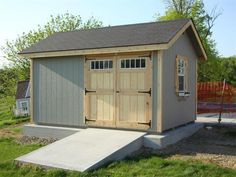Bring this beautiful cottage style charm to your backyard today with this Heritage Storage Shed Kit. It's handcrafted by the Amish and built to last! Diy Shed Kits, Storage Shed Kits, Shed Conversion Ideas, Firewood Shed, Firewood Storage, Clutter Solutions, Large Sheds, Backyard Sheds, Shed Design