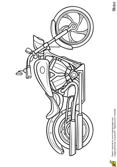 coloring page Motorbikes and choppers on Kids-n-Fun. At Kids-n-Fun you will always find the nicest coloring pages first! Cool Coloring Pages, Coloring Pages For Kids, Coloring Books, Kids Coloring, Free Coloring, Adult Coloring, Harley Davidson Decals, Harley Davidson Images, Wood Burning Stencils
