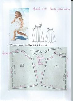 Learn how to sew a pillow case dress with this Pillowcase Dress Tutorial. Includes full instructions and a chart to help you resize the dress for various ages. The quickest dress you'll ever sew! Baby Girl Dress Patterns, Baby Clothes Patterns, Kids Patterns, Dresses Kids Girl, Dress Sewing Patterns, Blouse Patterns, Clothing Patterns, Sewing Baby Clothes, Baby Sewing