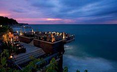 Rock Bar, Jimbaran, Bali, by night. Image courtesy of Ayana Resort & Spa, Bali Jimbaran Bali, Bali Lombok, Bangkok, Hotels In Bali, Rock Bar, Voyage Bali, Bali Holidays, Best Rooftop Bars, Beach Bars