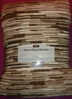 Micro Plush Blanket Super Soft Twin 66 in x 90 in Brown Off White Designs  New 654f4bc17