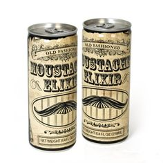 Want to grow a daring mustache like those rugged men from days gone by? Well, this Old Fashioned Moustache Elixir Energy Drink probably won't help, but you can try.    It may not help you grow a dashing lip-ferret, but it will perform as an energy drink with caffeine, taurine, ginseng and guarana. Plus the can looks like it is old timey so it's pretty neat.    It gives you something to do while you are waiting for your stashe to grow. Pre-order it for just £5.99 ($9/€7) from Firebox.