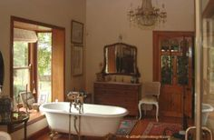 Victorian Bathrooms Were Often Also Dressing Rooms  Take dresser and turn into sink vanity