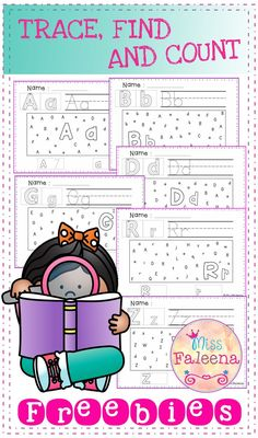 This Set contains 26 worksheet pages of the alphabet A to Z. Each page the children will work on letter recognition, write and count. Circle the upper and lowercase letters, count and record how many they found.  Preschool | Kindergarten | Flash Cards | Alphabet | Phonics | Reading | Literacy Centers