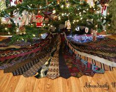 Necktie Christmas Tree Skirt