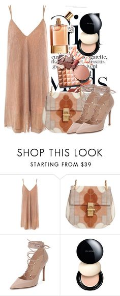 """""""Untitled #3389"""" by ekozlova ❤ liked on Polyvore featuring Sans Souci, Chloé, Valentino and shu uemura"""