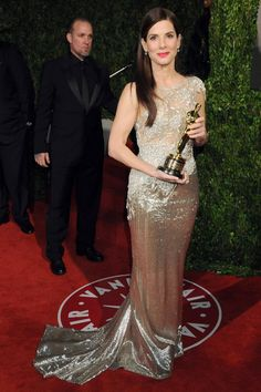Sandra Bullock in Marchesa Fall 2010 at the 2010 Oscars
