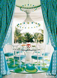 Maison de prestige en turquoise