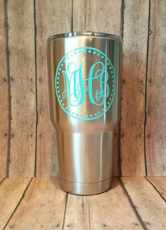 Check out this item in my Etsy shop https://www.etsy.com/listing/468157039/personalized-stainless-steel-cup-yeti