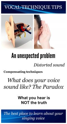 While improving your vocal technique, you will encounter an unexpected problem; your ears do not tell the truth! The majority of sound you produce enters your ear from the inside. That is to say, the sound of your voice reaches your ear by traveling through your throat, your mouth, your nose, muscles, bones, etc. It is heavily distorted when it enters your ear! So what you hear is NOT the truth!#singing#vocal#technique#tips#voice#ears#hear#