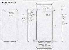 ¿Son estos los esquemas del iPhone 6 de 4,7 y 5,7 pulgadas? EsferaiPhone