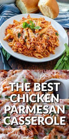 Meals For Two Recipes, Healthy Crockpot Chicken Recipes, Lunch Recipes, Easy Dinner Recipes, Cooking Recipes, Healthy Recipes, Easy Casserole Recipes, Best Chicken Casserole, Pasta Marinara
