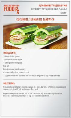 Cucumber Submarine Sandwich