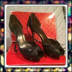 🎉HP 10/25/15🎉Sexy Black Stilettos ❤️Style Obsessions HP on 10/25/15 by @kellidavis05🎉 Preloved w/ minor signs of wear - leather has rubbed on bows as seen in pic 4. Footbed is worn but it's covered when worn. These were my go to date night shoe when my hubby & I were dating & out clubbing all the time but now after 2 babies it's time to send these to a new home. The platform in front makes them easy to walk & dance in!💃 NOTE-Will not ship with box as its oversized. PLEASE ASK ALL…
