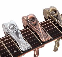 Metal Skull Trigger Style Guitar Capo – Great Guitar Gifts