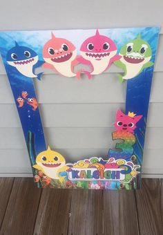 Baby Shark Photo Frame Prop, Baby Shark Party Decor Source by etsy