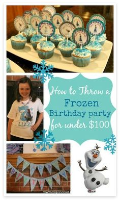 Get decoration ideas, game ideas, and more for your daughters disney Frozen birthday party... all under $100!
