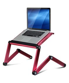 Loving this Pink Adjustable Laptop Desk & Bed Tray on #zulily! #zulilyfinds