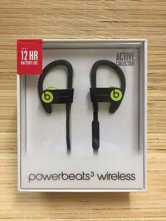 Powerbeats3 Wireless Earphones - Yellow Now £129.98, Save £39.97