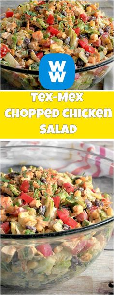 Tex-Mex Chopped Chicken Salad | free smart points recipes
