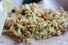 Street Food in India is never complete without this dish. This is bhel puri - a very popular indian snack especially in the city of dreams - mumbai