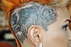 Enrique Ejay Bernal Rose Head Tattoo Design