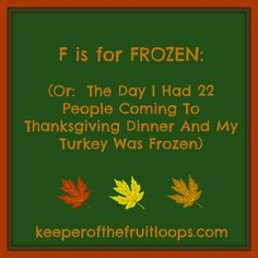T Is For Turkey - Keeper of the Fruit Loops