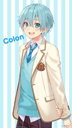 Manga Girl, Anime Girl Neko, Otaku Anime, Anime Art, Cool Anime Guys, Cute Anime Boy, Anime Chibi, Sawyer Pokemon, Mens Blue Hair