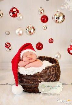 Christmas baby card.