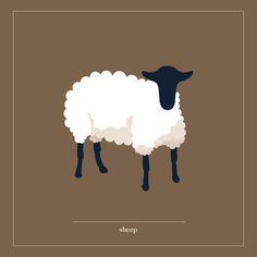 Sheep ©Justyna Krug Digital Illustration, Sheep, Moose Art, Animation, Illustrations, Projects, Animals, Log Projects, Animales