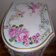 """Elegant French Nightstand Table Lady. 28"""" high x 15 3/8"""" wide x 19"""" Deep."""