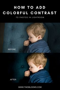 contrast to photos in Lightroom Editing in Lightroom is not only a great way to save time, but a great way to create beautiful photos. Create stunning, colorful photos with an abundance of contrast with these Lightroom tips from Two Blooms