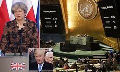 The UK was among 128 countries to vote against Donald Trump as the United Nations voted on Thursday to adopt a motion opposing the US moving its embassy to Jerusalem.
