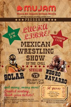 ¡VAMOS A LAS LUCHAS!  Stellar fight: Solar vs. Negro Navarro  #Mexican #wrestling #awesome #eventos #popular #folklore