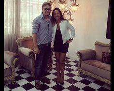 Douglas Harris em seu novo showroom com Sandra Miyuki