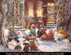 Dig: 24451 - Pauline Paquin Decoupage, Galerie D'art, Christmas Pictures, Les Oeuvres, Images, Watercolor, Painting, Arts, Hockey