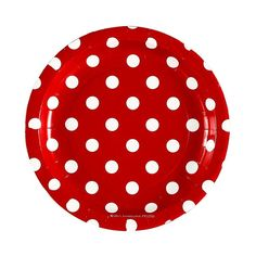 """Each pack includes 12 premium quality glossy paper plates. Cake/dessert plate size approx. 7"""" diameter. Boutique style partyware by Sambellina. Plates 