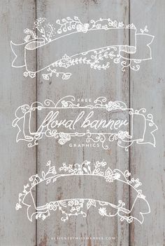 Free Floral Banner Graphics Designs By Miss Mandee. So pretty! These would look so nice on a Christmas card, wedding invitation, or anything really. Web Design, Graphic Design, Design Ideas, Wedding Cards, Wedding Invitations, Floral Vintage, Floral Banners, Web Banners, Paper Crafts
