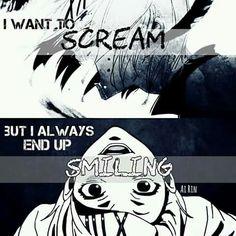 Je veux crier mais je finis toujours par sourire