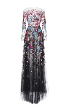 Embroidered Tulle Gown by ZUHAIR MURAD for Preorder on Moda Operandi