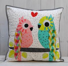 Tweets applique cushion pattern  instant download