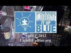 Autism Speaks Light It Up Blue World Autism Awareness Day!    On April 2, 2012, prominent buildings across North America and the world will be lit blue to raise awareness for autism and to commemorate World Autism Awareness Day. Learn more at http://www.lightupblue.org    Follow us on Twitter http;//www.twitter.com/autismspeaks  Join the convers...