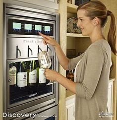 "Dacor DYWS4 20"" Wine Storage with 4-Bottle Capacity, Thermo-Electric Cooling System, LCD Controls, Dispensing System, Parental Control Locking Door and Glass Door"