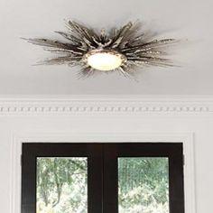 gorgeous light fixture {via zinc door Global Views Flame Light Nickel Fixture GV991414}