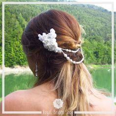 Bridal Updo, Bridal Lace, Bridal Headpieces, Lace Wedding, Hair Jewelry, Bridal Jewelry, Pearl Headpiece, Lace Hair, Bridal Hair Accessories