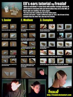 BE PATIENT , BIG FILE ^^' THis tutorial show how to make elf's ears with a roll … – elf on the shelf ideas easy Link Cosplay, Cosplay Diy, Halloween Cosplay, Cosplay Ideas, Halloween 2018, Diy Halloween, Halloween Costumes, Costume Tutorial, Cosplay Tutorial