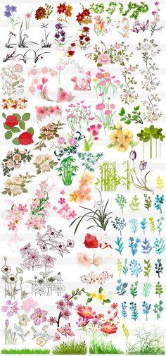 花・草木のワンポイント Shirt Embroidery, Flower Embroidery, Wreath Watercolor, Vintage Prints, Color Inspiration, How To Draw Hands, Banner, Clip Art, Scrapbook