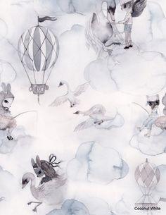 """Coconut White: MRS Mighetto tapetti """"Oh Clouds"""""""